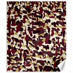 Red Camo Canvas 8  X 10  by snowwhitegirl