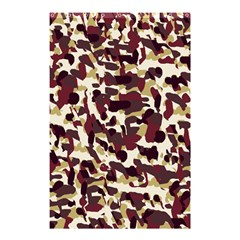 Red Camo Shower Curtain 48  X 72  (small)  by snowwhitegirl