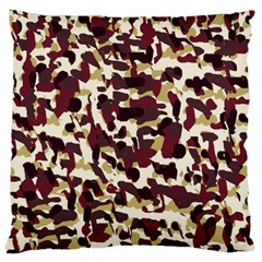 Red Camo Large Cushion Case (two Sides) by snowwhitegirl