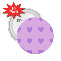 Violet Heart 2 25  Buttons (10 Pack)  by snowwhitegirl