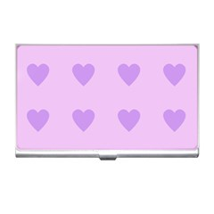 Violet Heart Business Card Holders by snowwhitegirl