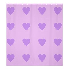 Violet Heart Shower Curtain 66  X 72  (large)  by snowwhitegirl