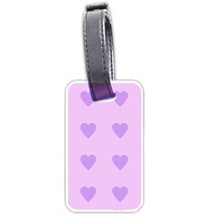 Violet Heart Luggage Tags (two Sides) by snowwhitegirl