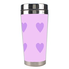 Violet Heart Stainless Steel Travel Tumblers by snowwhitegirl