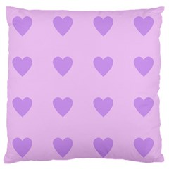 Violet Heart Large Flano Cushion Case (two Sides) by snowwhitegirl