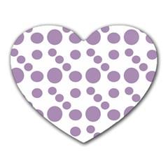 Violet Dots Heart Mousepads by snowwhitegirl