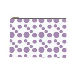 Violet Dots Cosmetic Bag (large)  by snowwhitegirl
