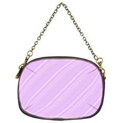 Lilac Diagonal Lines Chain Purses (one Side)  by snowwhitegirl