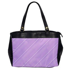 Lilac Diagonal Lines Office Handbags by snowwhitegirl