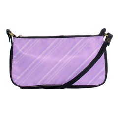 Lilac Diagonal Lines Shoulder Clutch Bags by snowwhitegirl