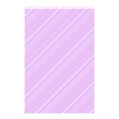 Lilac Diagonal Lines Shower Curtain 48  X 72  (small)  by snowwhitegirl