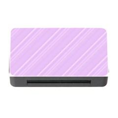 Lilac Diagonal Lines Memory Card Reader With Cf by snowwhitegirl