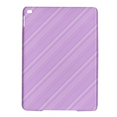 Lilac Diagonal Lines Ipad Air 2 Hardshell Cases by snowwhitegirl