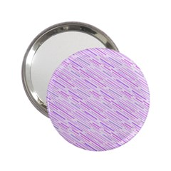 Silly Stripes Lilac 2 25  Handbag Mirrors by snowwhitegirl