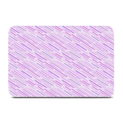 Silly Stripes Lilac Plate Mats by snowwhitegirl