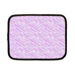 Silly Stripes Lilac Netbook Case (small)  by snowwhitegirl