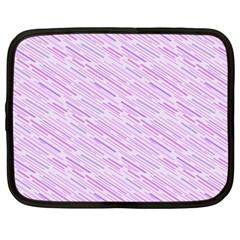 Silly Stripes Lilac Netbook Case (large) by snowwhitegirl