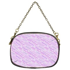 Silly Stripes Lilac Chain Purses (two Sides)  by snowwhitegirl