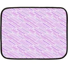 Silly Stripes Lilac Double Sided Fleece Blanket (mini)  by snowwhitegirl