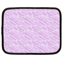 Silly Stripes Lilac Netbook Case (xl)  by snowwhitegirl