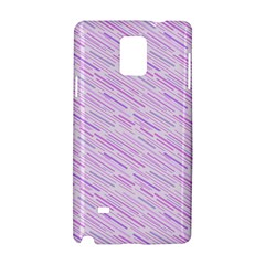 Silly Stripes Lilac Samsung Galaxy Note 4 Hardshell Case by snowwhitegirl