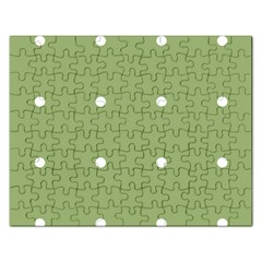 Olive Dots Rectangular Jigsaw Puzzl