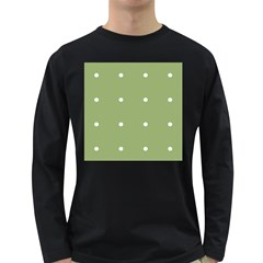 Olive Dots Long Sleeve Dark T Shirts
