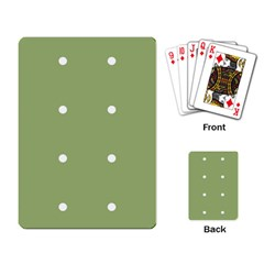 Olive Dots Playing Card by snowwhitegirl