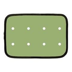 Olive Dots Netbook Case (medium)  by snowwhitegirl