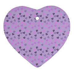 Heart Drops Violet Ornament (heart) by snowwhitegirl