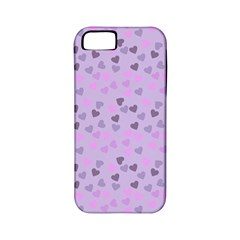 Heart Drops Violet Apple Iphone 5 Classic Hardshell Case (pc+silicone) by snowwhitegirl