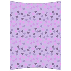 Heart Drops Violet Back Support Cushion by snowwhitegirl