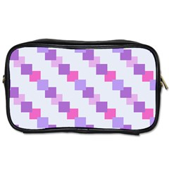 Geometric Squares Toiletries Bags 2 Side by snowwhitegirl