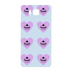 Blue Cupcake Samsung Galaxy Alpha Hardshell Back Case by snowwhitegirl
