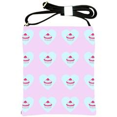 Pink Cupcake Shoulder Sling Bags by snowwhitegirl