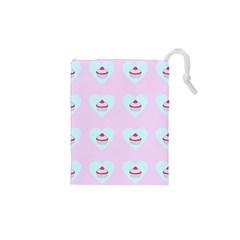 Pink Cupcake Drawstring Pouches (xs)  by snowwhitegirl