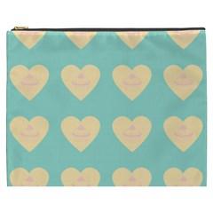 Teal Cupcakes Cosmetic Bag (xxxl)  by snowwhitegirl