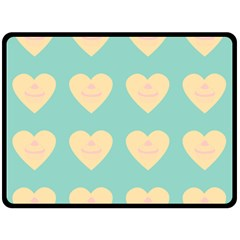 Teal Cupcakes Double Sided Fleece Blanket (large)  by snowwhitegirl