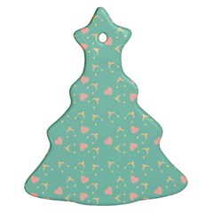 Teal Hearts And Hats Christmas Tree Ornament (two Sides) by snowwhitegirl