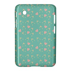 Teal Hearts And Hats Samsung Galaxy Tab 2 (7 ) P3100 Hardshell Case  by snowwhitegirl