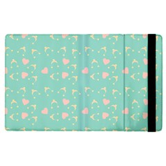Teal Hearts And Hats Apple Ipad Pro 12 9   Flip Case