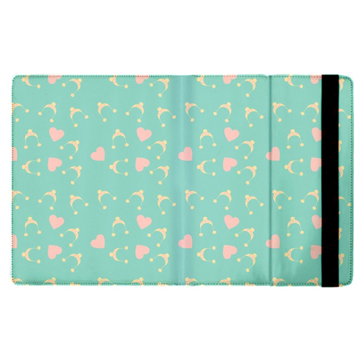Teal Hearts And Hats Apple iPad Pro 12.9   Flip Case