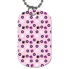Pink Donuts Dog Tag (two Sides) by snowwhitegirl