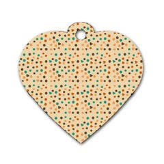 Vintage Hearts Dog Tag Heart (two Sides) by snowwhitegirl