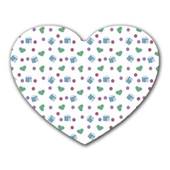 White Milk Hearts Heart Mousepads by snowwhitegirl