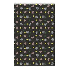Dark Grey Milk Hearts Shower Curtain 48  X 72  (small)  by snowwhitegirl