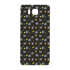 Dark Grey Milk Hearts Samsung Galaxy Alpha Hardshell Back Case by snowwhitegirl