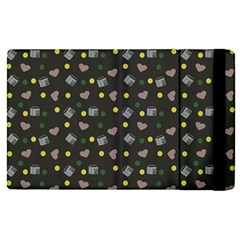 Dark Grey Milk Hearts Apple Ipad Pro 12 9   Flip Case by snowwhitegirl