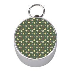 Green Milk Hearts Mini Silver Compasses by snowwhitegirl