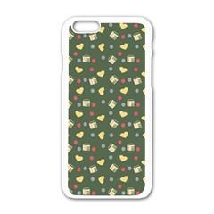 Green Milk Hearts Apple Iphone 6/6s White Enamel Case by snowwhitegirl